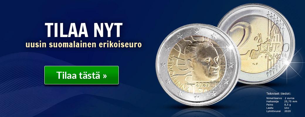 Uusin suomalainen kahden euron erikoisraha